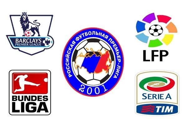 Россия в топ лигах Европы