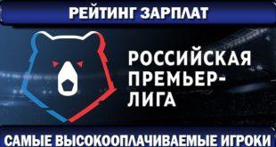 Самые высокооплачиваемые футболисты России