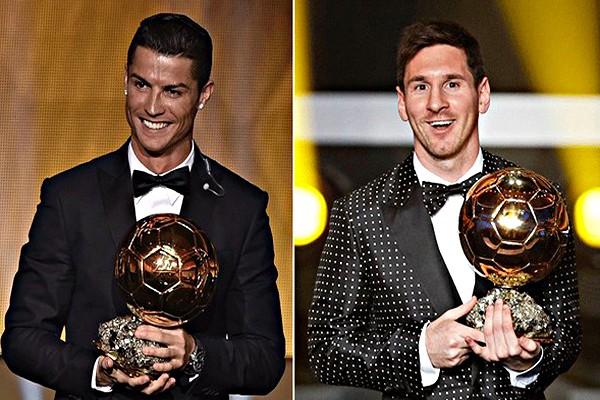 Месси и Роналду с золотым мячом