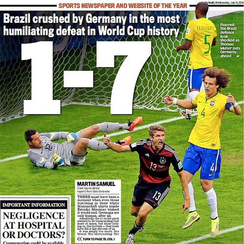 Германия - Бразилия 7:1