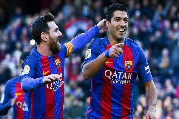 Месси и Суарес в Барселоне