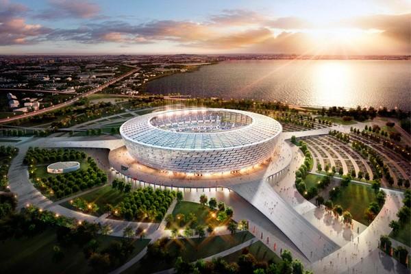 Стадион Нижний Новгород вид сверху