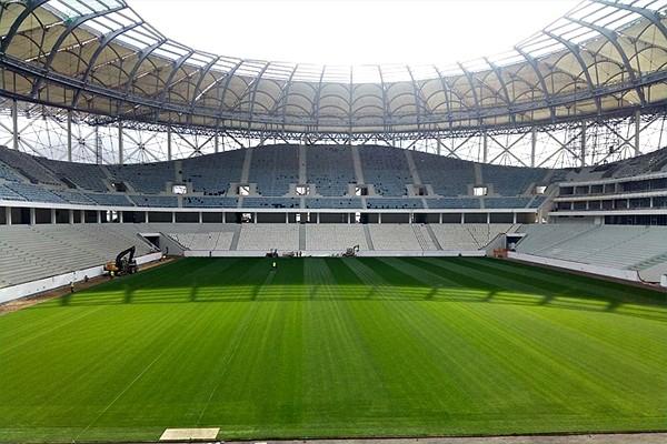 трибуны стадиона Волгоград