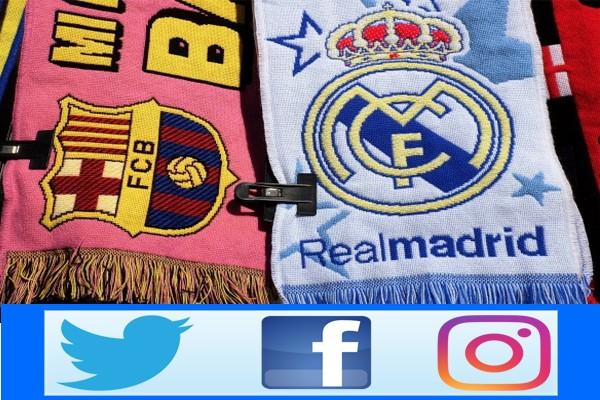 Барселона и Реал в соц сетях