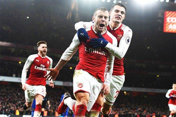 Джака и Уилшир в Арсенале