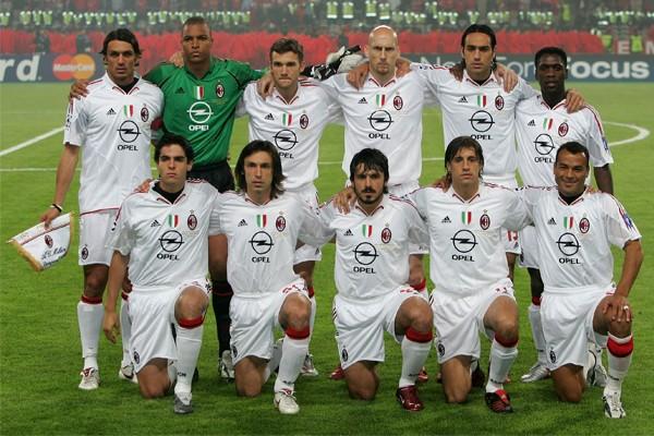 Состав Милана 2005