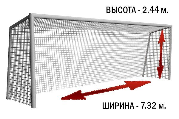 Размеры ворот для большого футбола