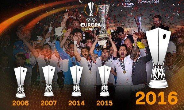 5 Кубков Лиги Европы Севильи