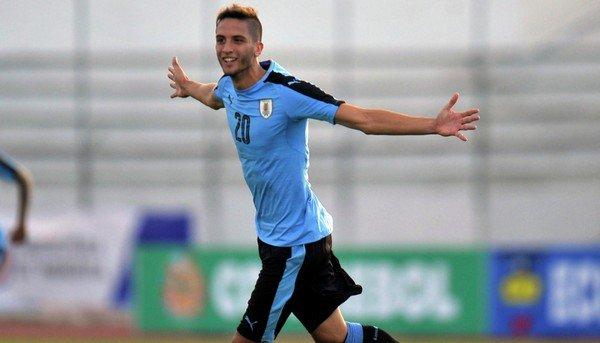 Бентанкур в футболке сборной Уругвая