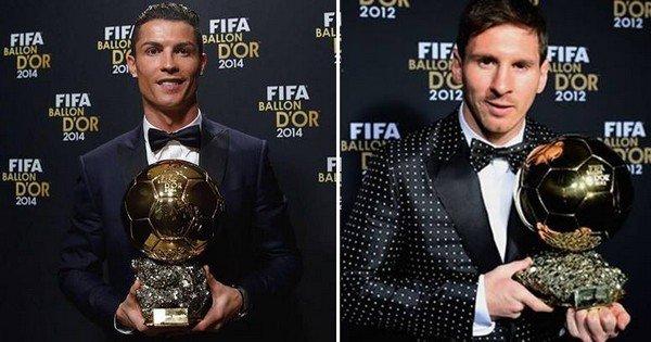 Месси vs Роналду: золотые мячи