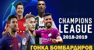 Таблица бомбардиров Лиги Чемпионов УЕФА 2018-2019