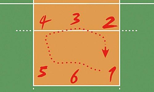 Позиции волейболистов на площадке
