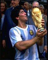 Марадона с кубком мира по футболу