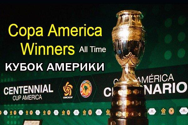 Все победители Кубка Америки по футболу