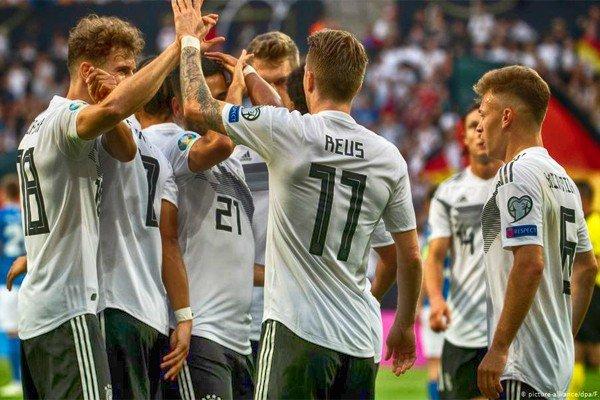 футболисты сборной Германии на Евро