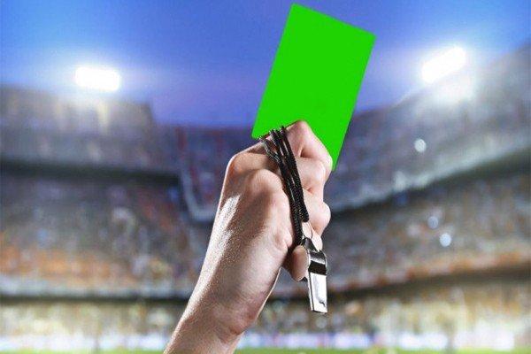 зелёная карточка для футбола