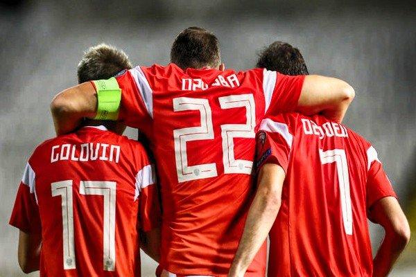 игроки сборной России на ЕВРО-2020 (Дзюба, Головин)