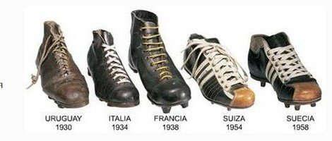 эволюция футбольных бутс