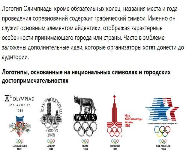 Об эмблемах Олимпиады