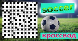 Кроссворд на тему футбол (ответы прилагаются)