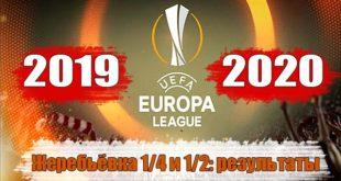 Жеребьёвка 1/4 и 1/2 Лиги Европы 19/2020 (10 июля) онлайн результаты