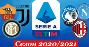 Серия А 2020/2021: турнирная таблица, календарь, результаты матчей