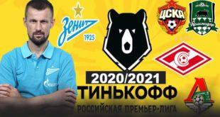 Фавориты чемпионата России по футболу 20/21