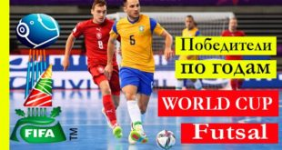 Таблица чемпионов мира по мини-футболу (футзалу) по годам
